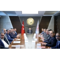 AKSARAY COMMITTEE VISITED MUSTAFA VARANK, MINISTER OF INDUSTRY AND TECHNOLOGY